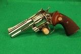 "Colt Python 357 Magnum Nickel 4"" Revolver Unfired"