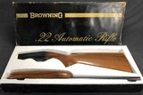 SOLD !!! BROWNING 22 AUTO GRADE 1 EXCELLENT WITH BOX - 1 of 17
