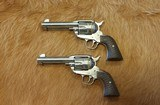 Ruger PAIR of Vaquero Fast Draw .45LC SS - 1 of 11