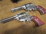 "Ruger Vaquero 357 Magnum SS 4 5/8"" a Pair"