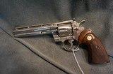 "Colt Python 357Mag 6"" Nickel - 3 of 4"