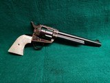 COLT - SINGLE ACTION ARMY SAA - 1ST GEN. 7.5 INCH BARREL. W-REAL PEARL GRIPS. W-COLT LETTER. BEAUTIFUL! MFG. IN 1914 - .38 SPECIAL