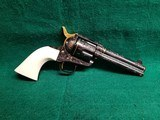 Uberti - 1873 SINGLE ACTION 4.75 INCH BARREL BLUED W-IVORY GRIPS BEAUTIFULLY ENGRAVED BY BRIAN MEARS W-GOLD ACCENTS MINTY BORE! - .45 Colt