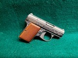 """BAUER AUTOMATIC - STAINLESS. """"BABY BROWNING CLONE"""". W-ONE MAGAZINE. ENGRAVED BY CLINT FINLEY. GORGEOUS! - .25 ACP"""