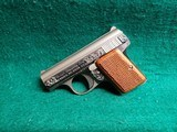 """BAUER AUTOMATIC - STAINLESS. """"BABY BROWNING CLONE"""". W-ONE MAGAZINE. ENGRAVED BY CLINT FINLEY. GORGEOUS! - .25 ACP - 4 of 20"""
