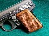 """BAUER AUTOMATIC - STAINLESS. """"BABY BROWNING CLONE"""". W-ONE MAGAZINE. ENGRAVED BY CLINT FINLEY. GORGEOUS! - .25 ACP - 19 of 20"""