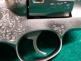 RUGER - SECURITY SIX. STAINLESS. DOUBLE ACTION. 6 INCH BARREL. ENGRAVED BY CLINT FINLEY.GORGEOUS! MFG. IN 1977 - .357 MAGNUM - 9 of 21