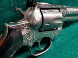 RUGER - SECURITY SIX. STAINLESS. DOUBLE ACTION. 6 INCH BARREL. ENGRAVED BY CLINT FINLEY.GORGEOUS! MFG. IN 1977 - .357 MAGNUM - 8 of 21