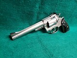 RUGER - SECURITY SIX. STAINLESS. DOUBLE ACTION. 6 INCH BARREL. ENGRAVED BY CLINT FINLEY.GORGEOUS! MFG. IN 1977 - .357 MAGNUM - 5 of 21