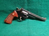 Smith & Wesson - MODEL 19-5. BLUED. 6 INCH BARREL. 6-SHOT DOUBLE ACTION. MINTY BORE! MFG. IN MID 80'S - .357 Magnum