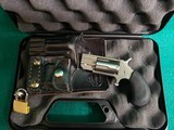 "North American Arms - PUG MINI REVOLVER. 5-SHOT. 1"" BBL. W-WHITE DOT SIGHT. IN ORIGINAL HARD CASE W-CUSTOM LEATHER POCKET HOLSTER. - .22 MAGNUM"