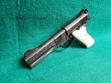 """Colt - WOODSMAN. MATCH TARGET. 3RD MODEL. 4.5"""" BARREL. IVORY GRIPS. EXQUISITELY ENGRAVED BY MASTER ENGRAVER CLINT FINLEY. MFG IN 1972 - .22 LR - 5 of 26"""