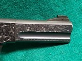"""Colt - WOODSMAN. MATCH TARGET. 3RD MODEL. 4.5"""" BARREL. IVORY GRIPS. EXQUISITELY ENGRAVED BY MASTER ENGRAVER CLINT FINLEY. MFG IN 1972 - .22 LR - 19 of 26"""