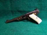 COLT - WOODSMAN. MATCH TARGET. 1ST SERIES. ENGRAVED BY JIM SORNBERGER W-GOLD INLAYS. CHECKERED IVORY GRIPS. STUNNING PISTOL! MFG. IN 1939 - .22 LR - 4 of 17