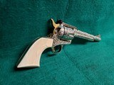 """COLT - NEW FRONTIER S.A.A. 3RD GEN. NICKEL PLATED. 7.5"""" BBL. ENGRAVED BY BRIAN MEARS. CHECKERED IVORY GRIPS. MFG. IN 1981 - .44 SPECIAL - 3 of 18"""