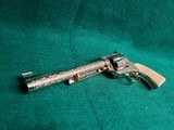 """COLT - NEW FRONTIER S.A.A. 3RD GEN. NICKEL PLATED. 7.5"""" BBL. ENGRAVED BY BRIAN MEARS. CHECKERED IVORY GRIPS. MFG. IN 1981 - .44 SPECIAL - 15 of 18"""