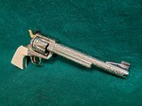"""COLT - NEW FRONTIER S.A.A. 3RD GEN. NICKEL PLATED. 7.5"""" BBL. ENGRAVED BY BRIAN MEARS. CHECKERED IVORY GRIPS. MFG. IN 1981 - .44 SPECIAL - 2 of 18"""