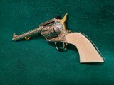 """COLT - NEW FRONTIER S.A.A. 3RD GEN. NICKEL PLATED. 7.5"""" BBL. ENGRAVED BY BRIAN MEARS. CHECKERED IVORY GRIPS. MFG. IN 1981 - .44 SPECIAL - 6 of 18"""