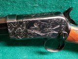 """WINCHESTER - MODEL 1890. DELUXE. 24"""" OCTAGON BBL. ENGRAVED BY ANGELO BEE IN FACTORY #8 PATTERN. VERY GORGEOUS RIFLE! MFG. IN 1926 - .22 LR - 16 of 22"""