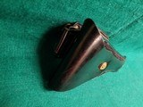 SERVICE MFG. CO - YONKERS, NY. 1911. 5 INCH. LEATHER LINED PLASTIC SWIVEL HOLSTER. ORIGINAL MILITARY MP/NYPD POLICE ISSUE. MODEL# 2425 - .45 ACP - 7 of 9
