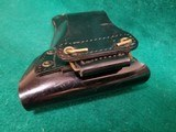 SERVICE MFG. CO - YONKERS, NY. 1911. 5 INCH. LEATHER LINED PLASTIC SWIVEL HOLSTER. ORIGINAL MILITARY MP/NYPD POLICE ISSUE. MODEL# 2425 - .45 ACP - 4 of 9