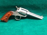 RUGER-NEW BEARCAT-.22 CAL-STAINLESS STEEL WITH A ROLLED STAMP CYLINDER