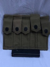 NOS Auto Ordnance Thompson 5 stick mag pouch with 5 20 round stick mags