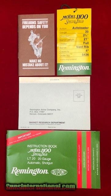 Remington 1100 Special 20ga LNIB