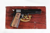 """COLTGOVERNMENT MK IV SERIES 70BLUED5""""DIAMOND CHECKERED WOOD - 1 of 12"""