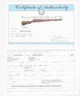 """H&RM1 GARAND (U.S)BLUED24""""WOOD STOCK30-06CERTIFICATE OF AUTHENTICITY - 18 of 18"""