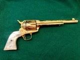 Colt model 1873 SA Engraved Gold Gilded .45 Caliber Revolver