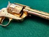Colt model 1873 SA Engraved Gold Gilded .45 Caliber Revolver - 4 of 11