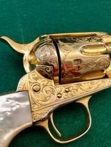 Colt model 1873 SA Engraved Gold Gilded .45 Caliber Revolver - 3 of 11
