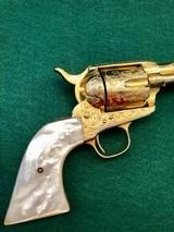 Colt model 1873 SA Engraved Gold Gilded .45 Caliber Revolver - 2 of 11