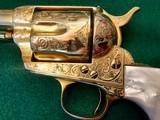 Colt model 1873 SA Engraved Gold Gilded .45 Caliber Revolver - 8 of 11