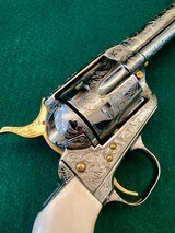 Colt 2nd Gen Single Action Army .45 LC Engraved by Brian Mears - 3 of 15