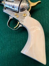 Colt 2nd Gen Single Action Army .45 LC Engraved by Brian Mears - 6 of 15