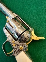 Colt 2nd Gen Single Action Army .45 LC Engraved by Brian Mears - 7 of 15