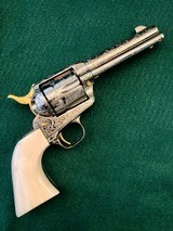 Colt 2nd Gen Single Action Army .45 LC Engraved by Brian Mears - 1 of 15