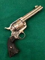 """Engraved Colt SAA 45 LC 4 3/4"""""""