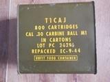 WW2 30 carbine sealed tin