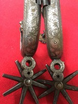 California Silver Inlaid Spurs - 5 of 5