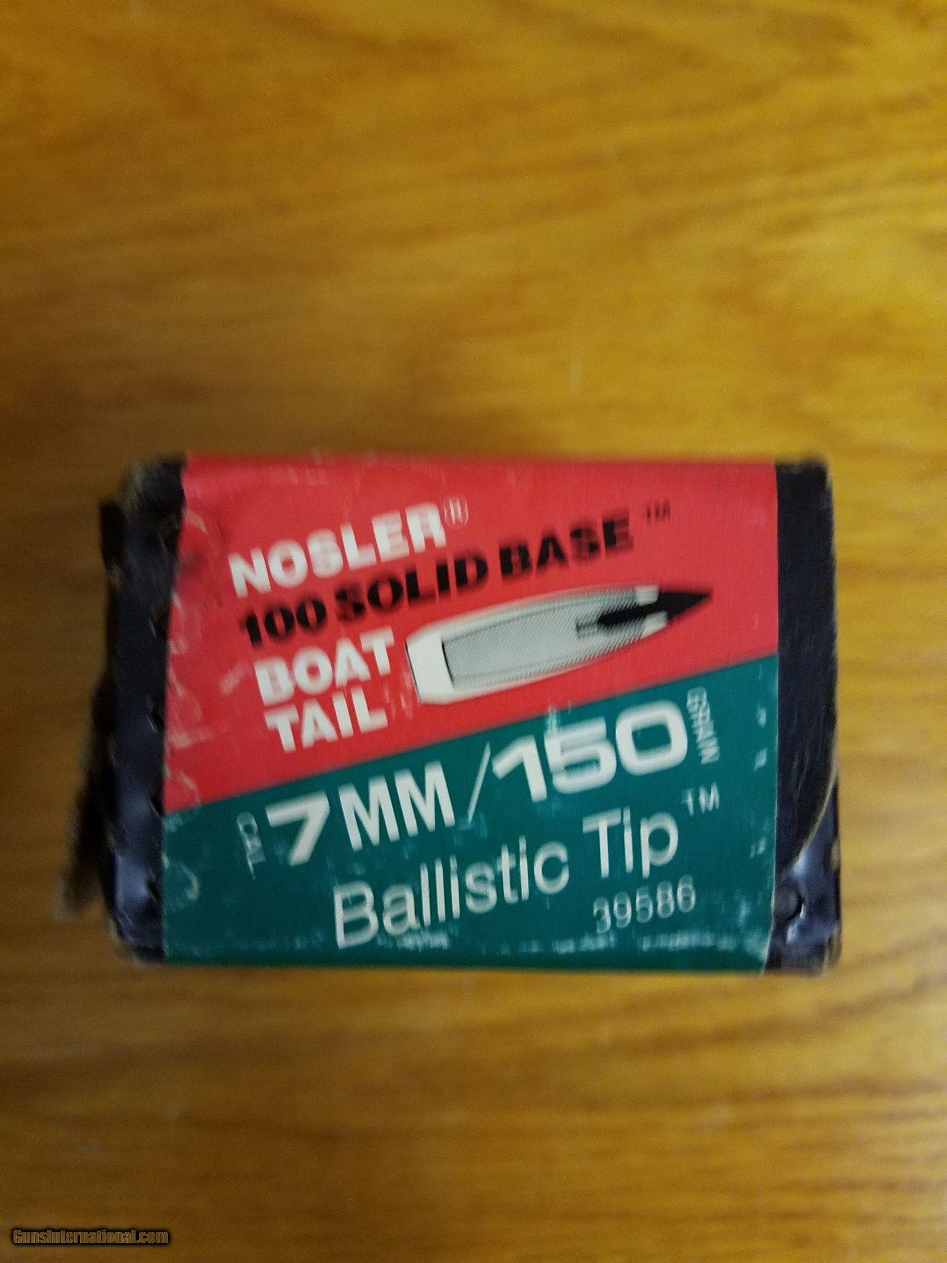 150gr 7mm ( 284) Nosler Ballistic tip, 882 count