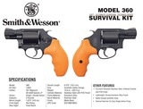 "Smith & Wesson 12601 360 Survival Kit Revolver Single/Double 357 Magnum 1.875"" 5 Rd Synthetic Safety Orange Grip Black Matte **FREE LAYAWAY** - 2 of 3"