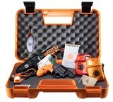 "Smith & Wesson 12601 360 Survival Kit Revolver Single/Double 357 Magnum 1.875"" 5 Rd Synthetic Safety Orange Grip Black Matte **FREE LAYAWAY** - 1 of 3"