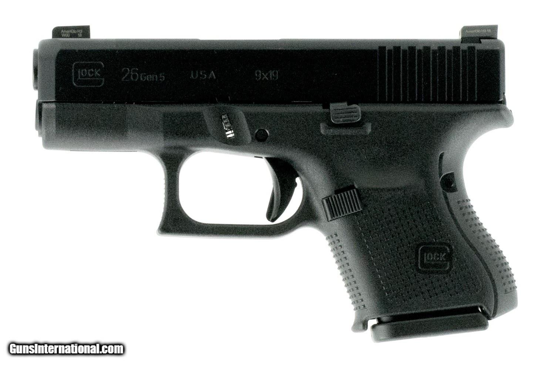 Glock G26 Gen 5 US 9mm Luger 10+1 Ameriglo Night Black