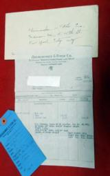 W W GREENER FH35 12ga Sold by Abrecrombie & Fitch in 1936 w/papers & hang tag - 13 of 15