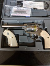 Ruger Bisley Vaquero Revolver .45LC 5.5 in 6rd. Stainless with Ivory Grips Model 5129 matching pair