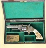 Cased Engraved American Standard Tool Co. Tip-Up Revolver.