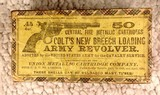 Colt's new Breech loading Army Revolver Ammo with Box Antique UMC